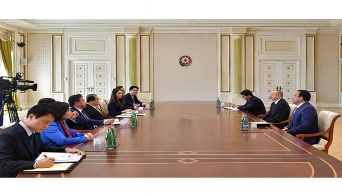 Президент Ильхам Алиев принял председателя Национальной ассамблеи Кореи