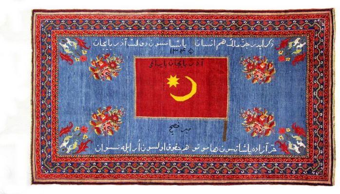 Azərbaycan Xalq Cümhuriyyətinin yadigarı olan nadir xalça aşkara çıxarılıb
