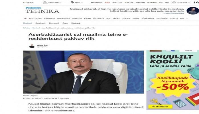 В популярной эстонской газете опубликована статья об «Asan İmza»