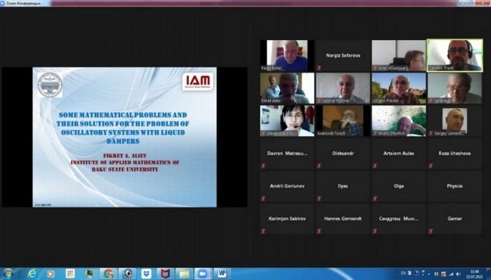 Академик Фикрет Алиев выступил с докладом на вебинаре проекта SOMPATY