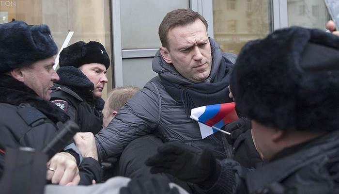 Aleksey Navalnı Moskvada saxlanıldı