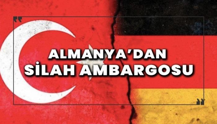 Almanya'dan silah ambargosu