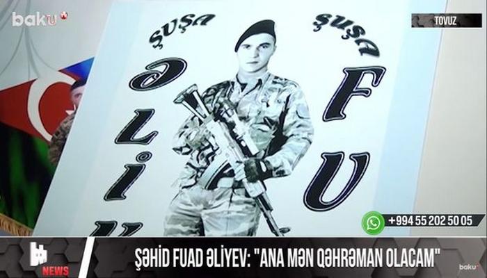 """Anasına """"mən qəhrəman olacam"""" deyən şəhidimiz"""