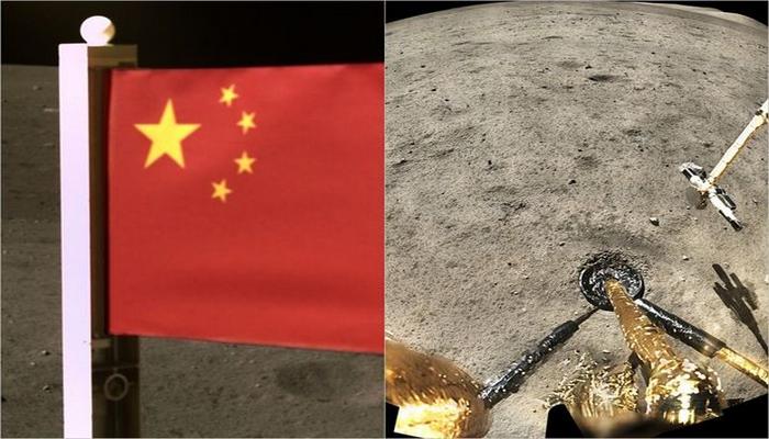 Ayın səthinə Çinin bayrağı sancıldı