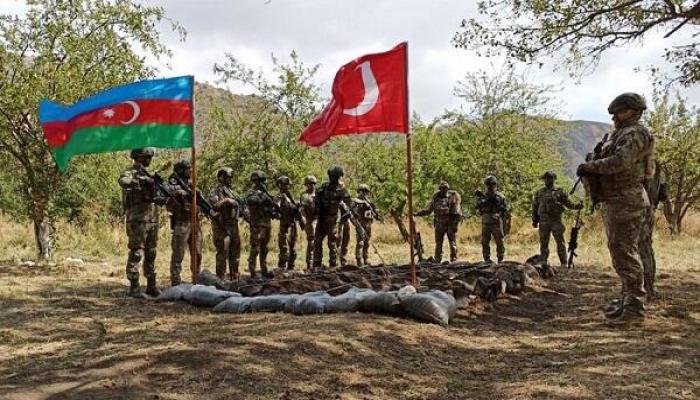 Laçında Azərbaycan-Türkiyə birgə təlimi başladı - Foto