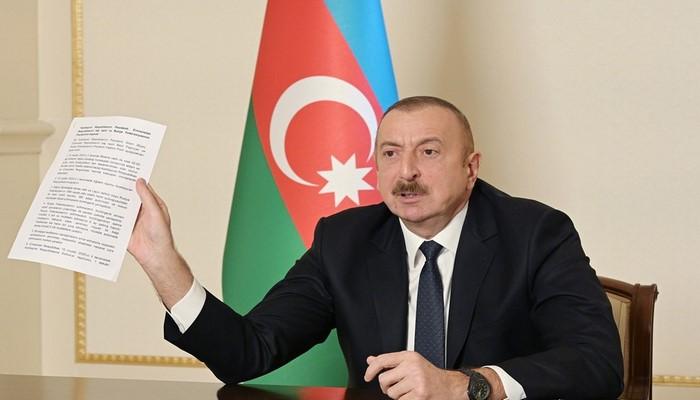 """Azərbaycan Prezidenti: """"10 noyabr bəyanatı de-fakto sülh müqaviləsidir"""""""
