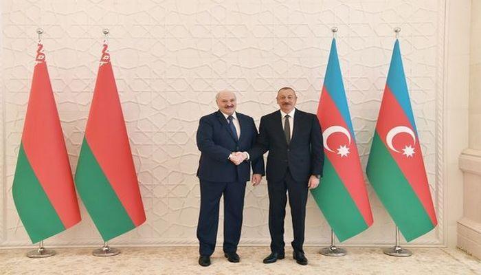 """Azərbaycan Prezidenti Belarusla münasibətlərdən danışıb: """"Razılaşdırdığımız məsələlərin praktiki həllini görürük"""""""
