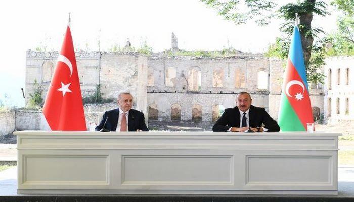 """Azərbaycan və Türkiyə prezidentləri Şuşada """"Xan qızı"""" bulağında olublar"""