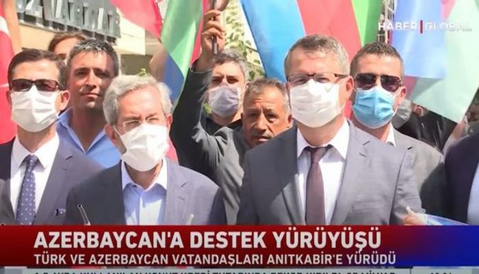 Azərbaycana dəstək yürüşü Türkiyə telekanalında