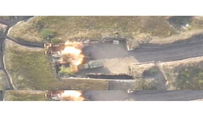 Азербайджанская армия нанесла удары по опорному пункту врага, уничтожена живая сила