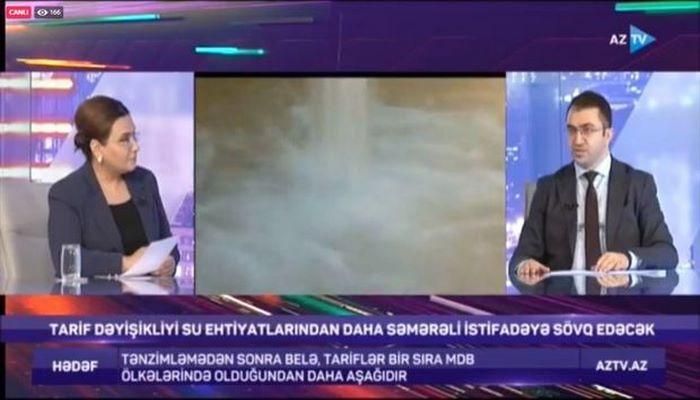 """""""Azərsu"""" rəsmisi AZTV-də suyun qiymətinin artması qərarını şərh edib"""