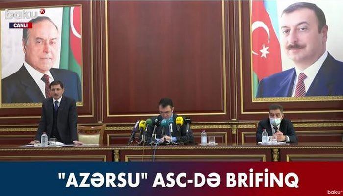 """""""Azərsu"""" Tarif Şurasının qərarı ilə bağlı brifinq keçirir - CANLI YAYIM"""