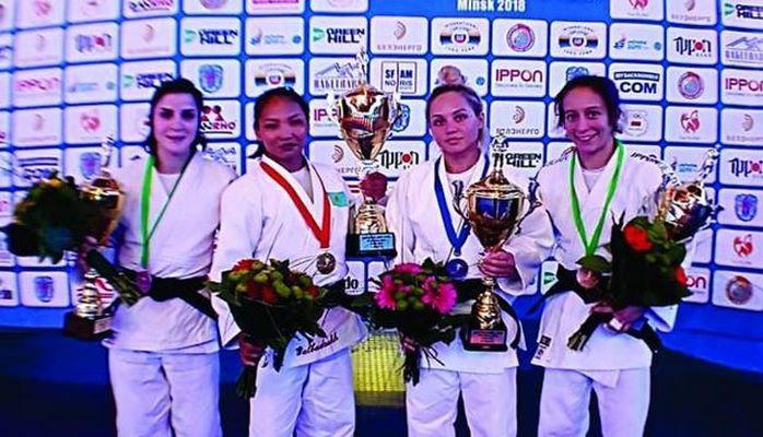 Azərbaycan cüdoçusu Minskdə bürünc medal qazanıb