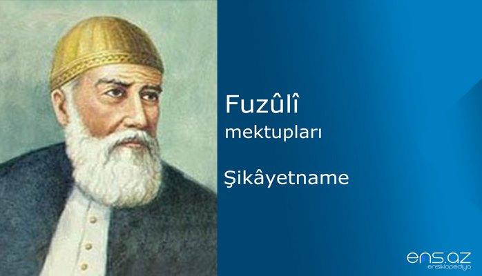 Fuzuli - Şikayetname