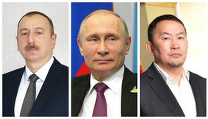 Президенты Азербайджана, России и Монголии наблюдают за смешанными командными соревнованиями на чемпионате мира по дзюдо