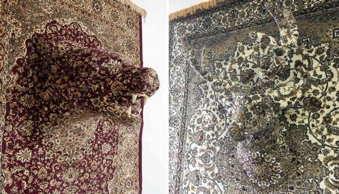 Скульптуры животных из ковров, сделанные в натуральную величину