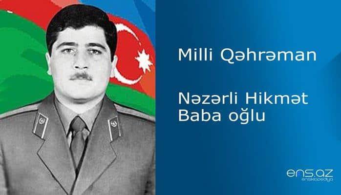 Hikmət Nəzərli Baba oğlu