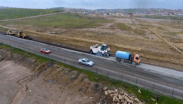 Masazır-Novxanı avtomobil yolunun 2.5 km-lik hissəsi yenidən qurulur