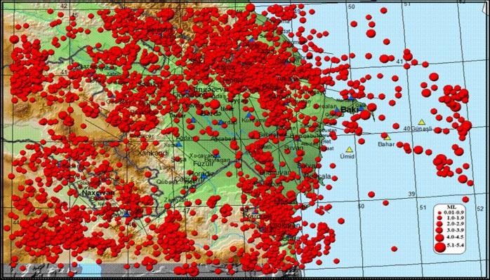 Часть территории Азербайджана расположена в зоне высокой сейсмической активности