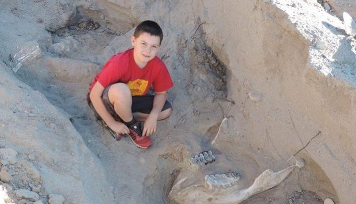 10 yaşlı uşaqdan qeyri-adı tapıntı