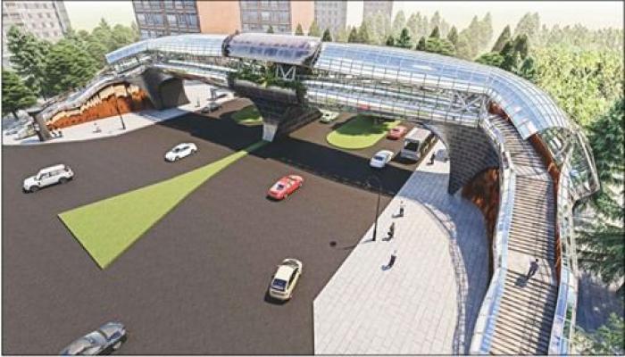 Новый надземный пешеходный переход в Хатаинском районе откроется в ближайшие дни