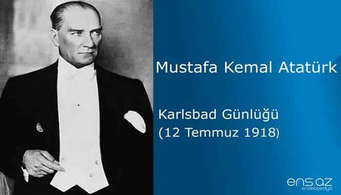 Mustafa Kemal Atatürk - Karlsbad Günlüğü