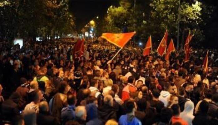 Протестующие заблокировали столицу Черногории