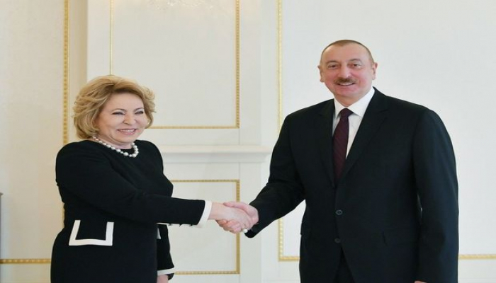Ильхам Алиев принял Валентину Матвиенко