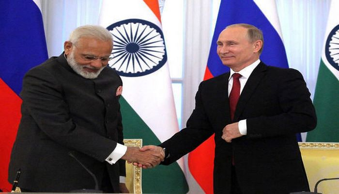 Путин и Моди встретились на острове во Владивостоке