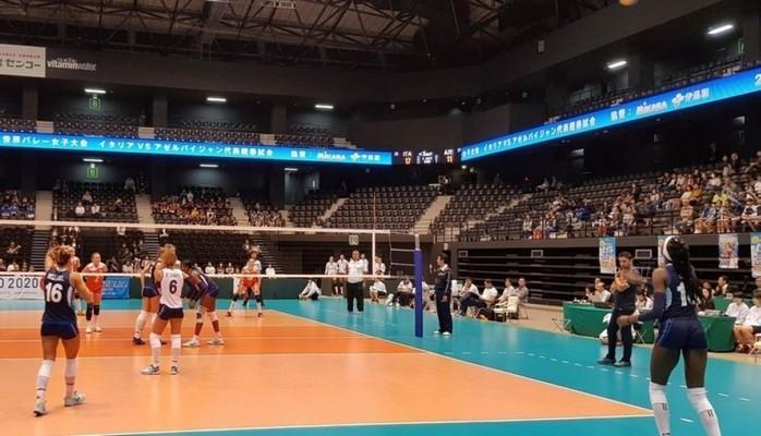 Сборная Азербайджана по волейболу уступила Италии