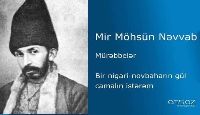 Mir Möhsün Nəvvab - Bir nigari-novbaharın gül camalın istərəm
