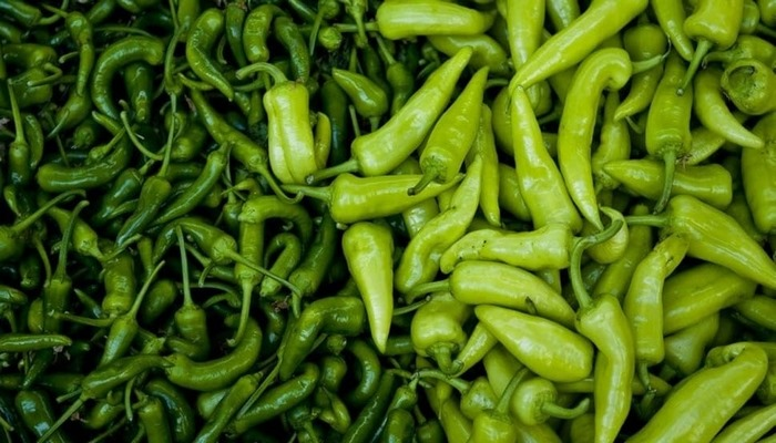 Bağışıklık için yeşil biber C vitamini deposu