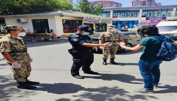 Bakı polisi karantin qaydalarını pozanları cərimələdi