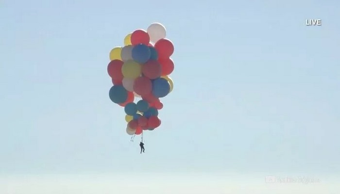 Balonla 9 kilometre yükseldi!