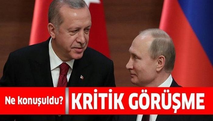 Başkan Erdoğan Vladimir Putin ile görüştü