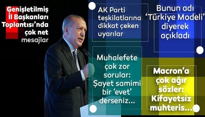 Başkan Recep Tayyip Erdoğan'dan AK Parti Genişletilmiş İl Başkanları Toplantısı'nda flaş açıklamalar