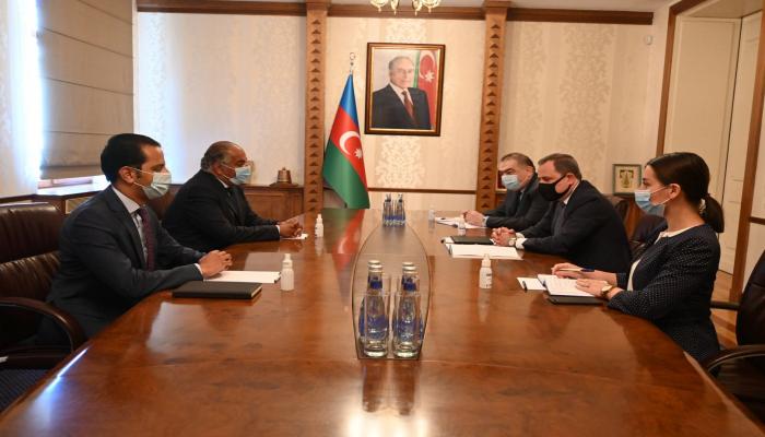 Джейхун Байрамов встретился с послом Египта в Азербайджане
