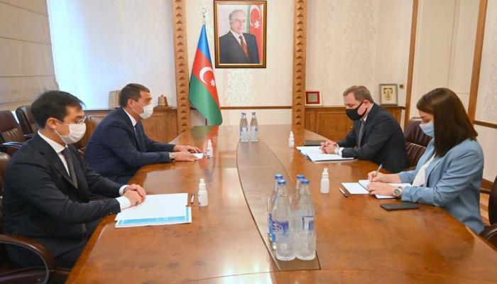 Глава МИД Азербайджана встретился с послом Казахстана