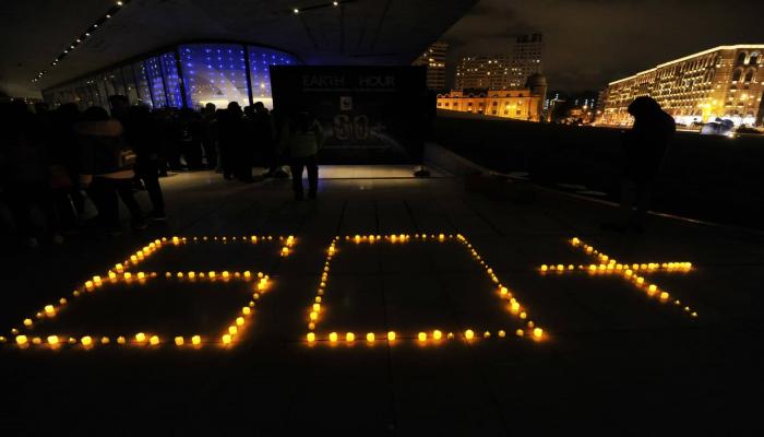 В Баку отключили освещение фасадов зданий - ФОТО/ВИДЕО