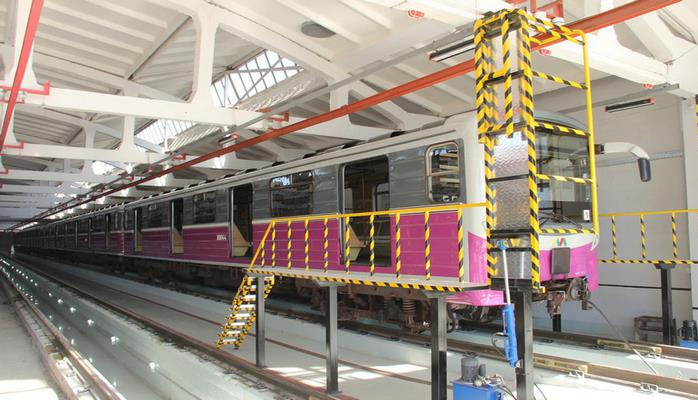 В электродепо Бакметрополитена ведутся работы по реконструкции