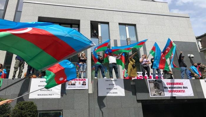 Belçikada azərbaycanlılara hücum edən 17 erməni saxlanılıb