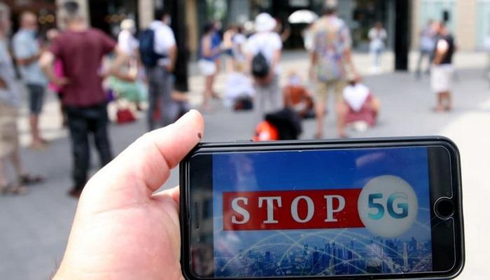 Belçika'nın başkenti Brüksel'de 5G'ye yönelik altyapı yatırımları protesto edildi.