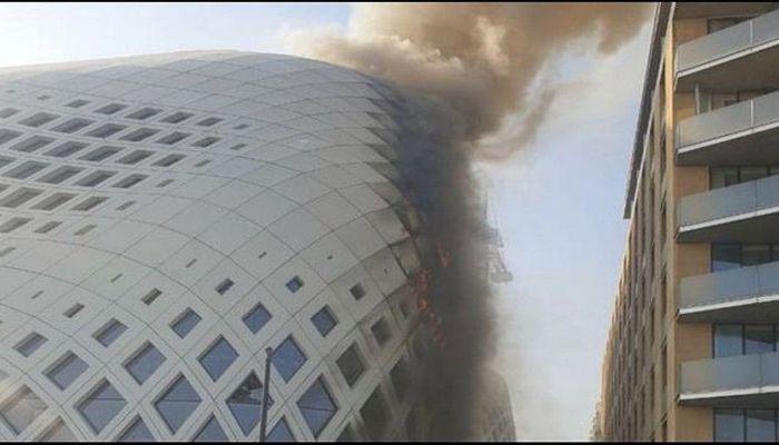 Beyrutda növbəti yanğın: Bu dəfə ticarət mərkəzi yandı