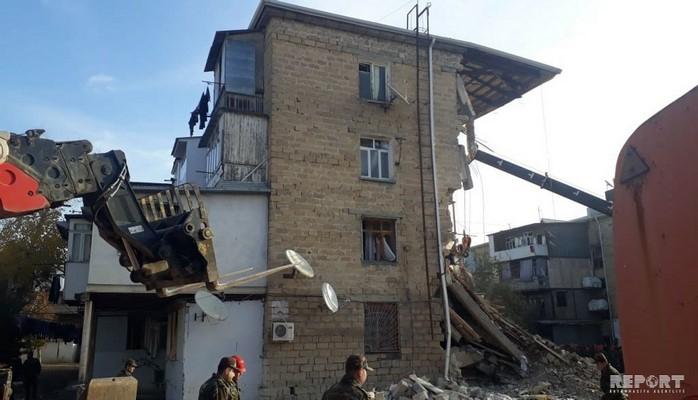 """Nazir müavini: """"Gəncədə partlayış baş verən binanın sakinləri üçün yeni bina tikiləcək"""""""