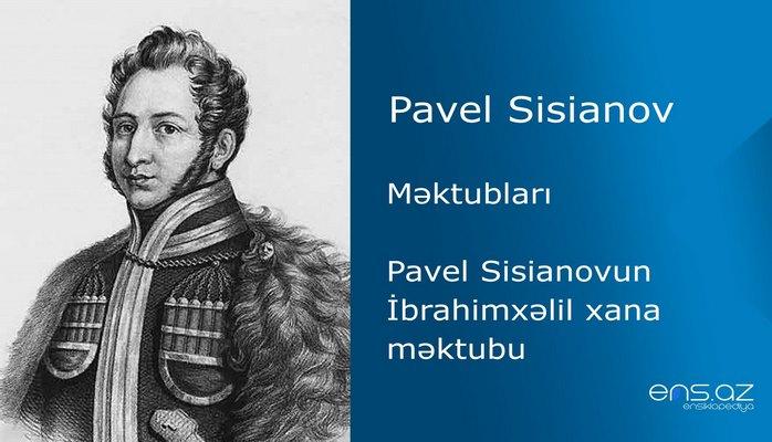 Pavel Sisianov - Pavel Sisianovun İbrahimxəlil xana məktubu