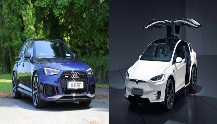 Универсал Audi RS4 проиграл электрокару Tesla Model X в дрэг-рейсинге