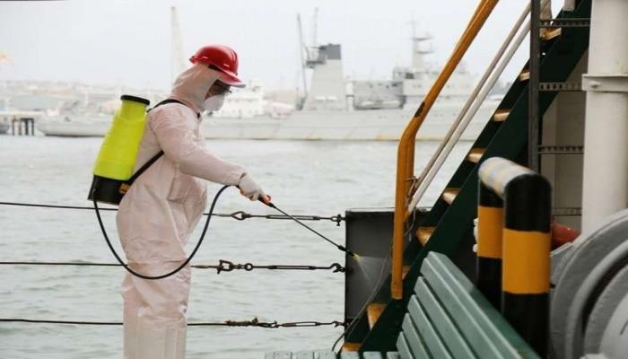 На судах Каспийского морского пароходства продолжается дезинфекция в связи с коронавирусом