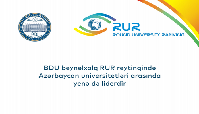 БГУ в международном рейтинге RUR снова стал лидером среди вузов Азербайджана