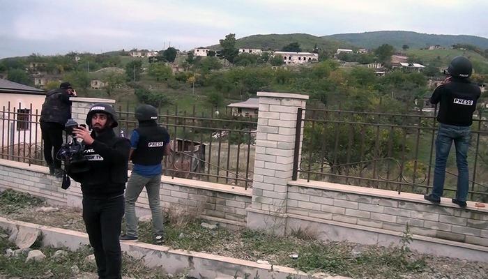 Bir qrup yerli KİV nümayəndələri işğaldan azad edilmiş Talış kəndinə səfər edib