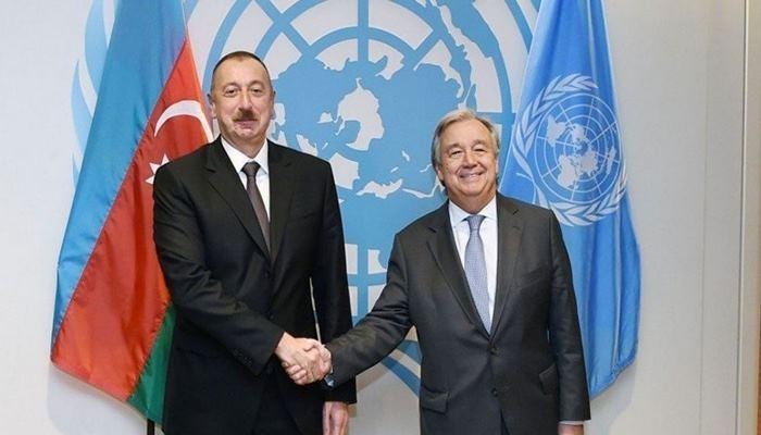 BMT-nin Baş katibi Prezident İlham Əliyevə telefonla zəng edib